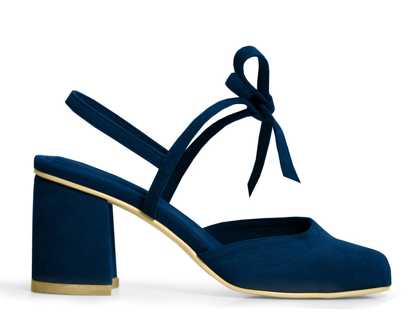 The Vegan Holiday Heel - Sapphire