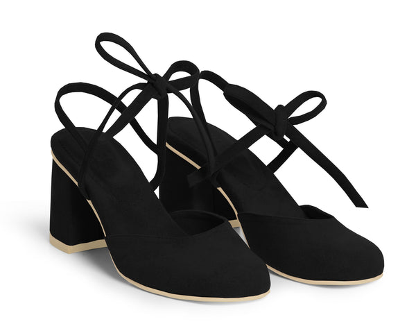 The Vegan Holiday Heel - Black