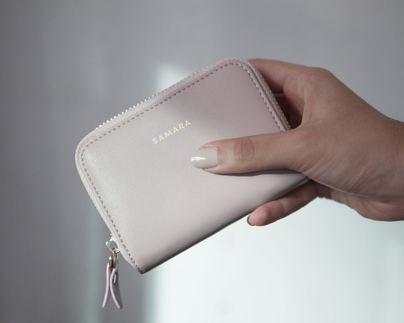 Samara Lola Vegan Leather Wallet - Blush