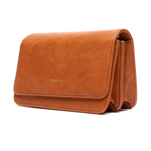 Samara Patona Vegan Leather Clutch - Tan