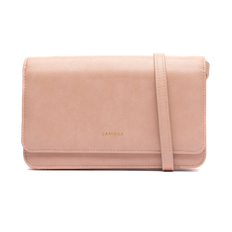 Samara Patona Vegan Leather Clutch - Blush