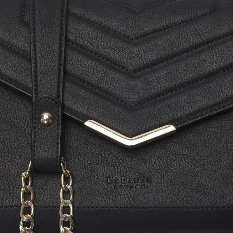 LaBante London Kensington Vegan Leather Crossbody - Black