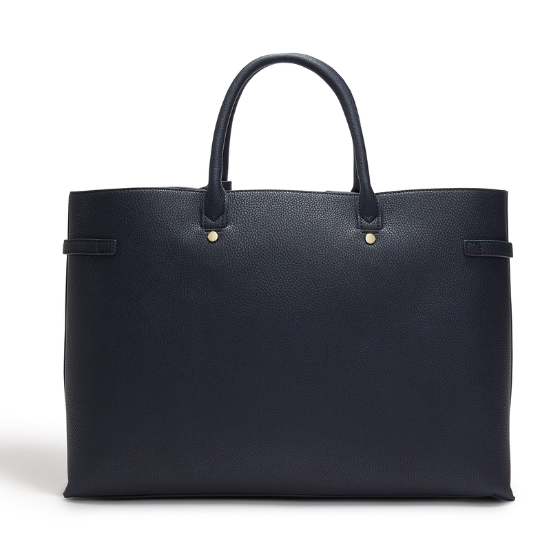 LaBante London Windsor Vegan Leather Shoulder Bag - Navy
