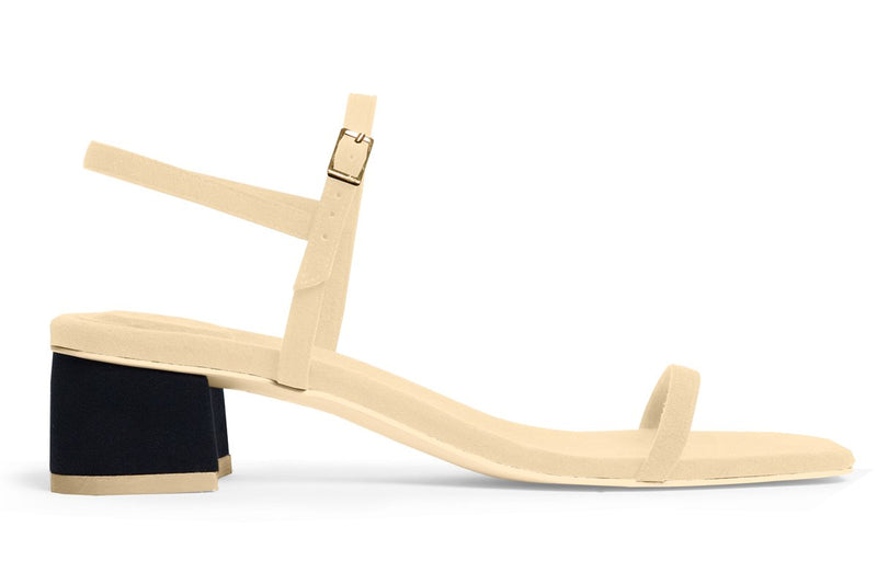 The Milli Vegan Sandal - Beige & Black