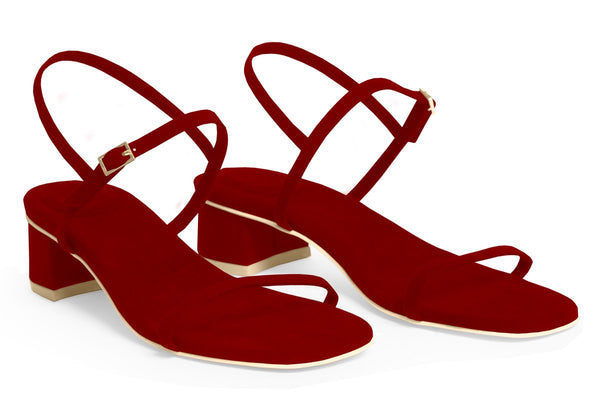 The Milli Vegan Sandal - Ruby