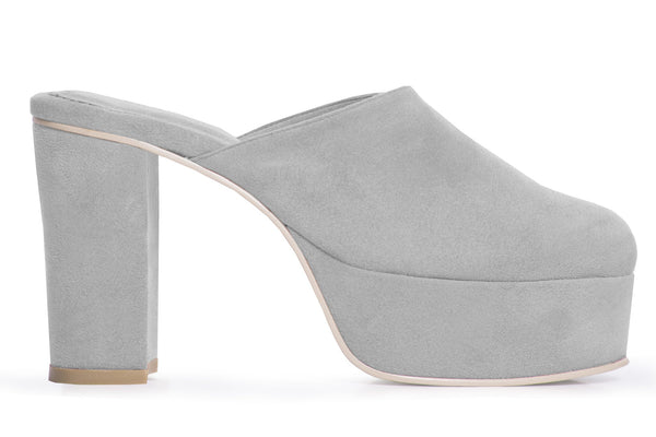 The Vegan Disco Mule - Gray