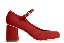 The Skipper Vegan Heel - Ruby