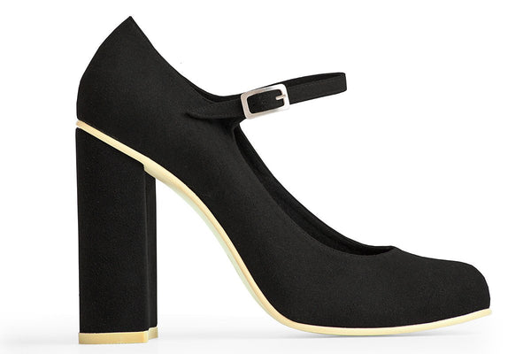 The Prima Vegan Pump - Black