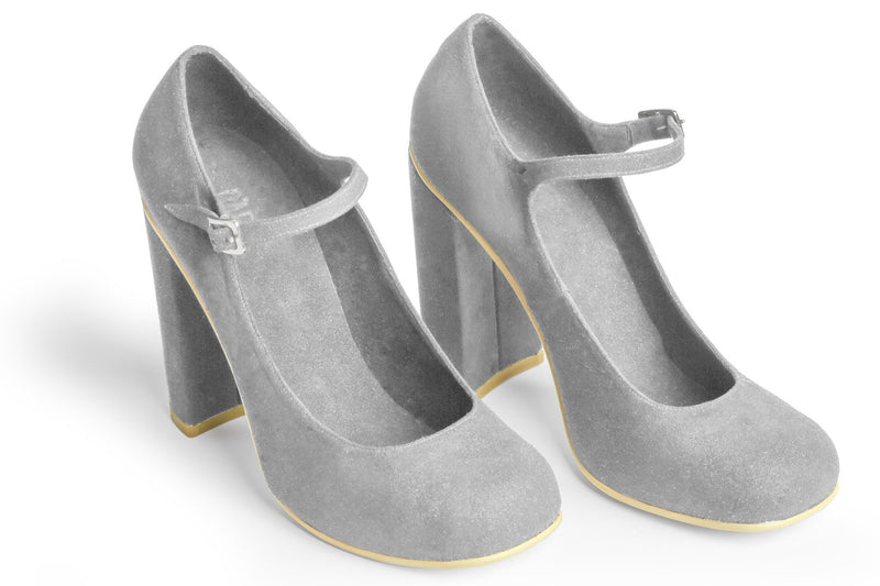 The Prima Vegan Pump - Gray