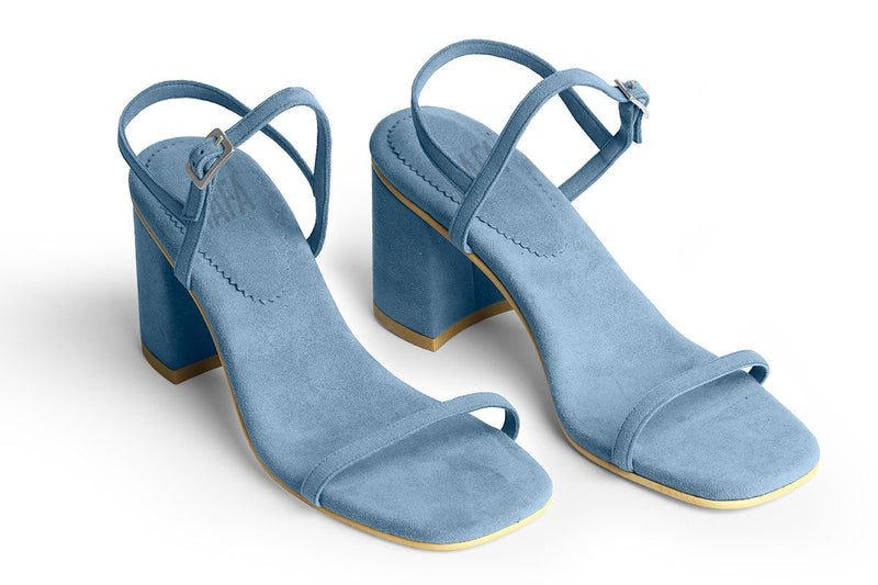 The Simple Vegan Sandal - Azur
