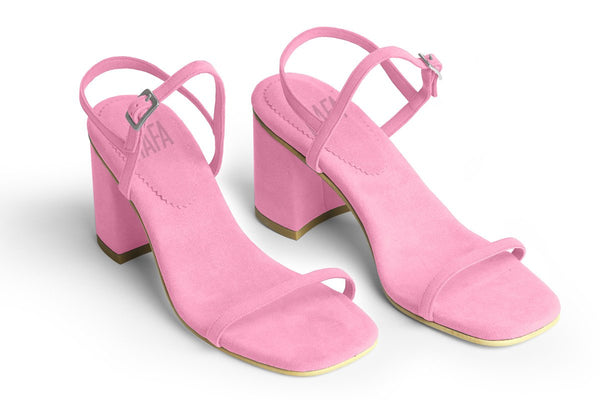 The Simple Vegan Sandal - Peony