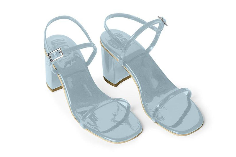The Simple Vegan Sandal - Glossy Blue
