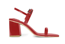 The Simple Vegan Sandal - Glossy Red