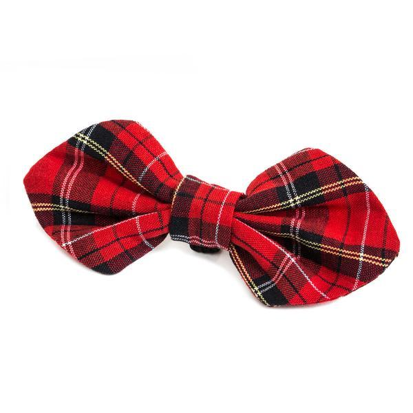 Modern Beast Bowtie in Red Plaid