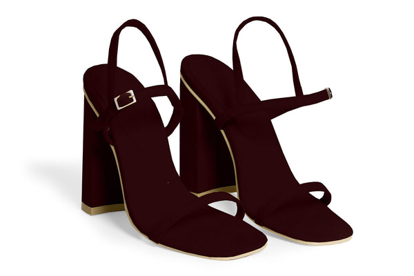 The Sky Vegan Sandal - Bordeaux