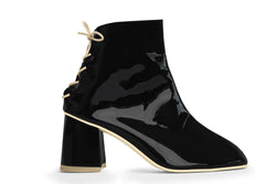 The Vegan Sock Boot - Glossy Black