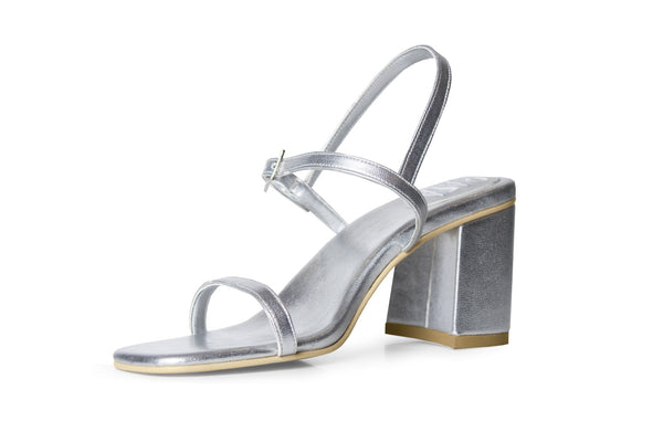 The Simple Vegan Sandal - Silver