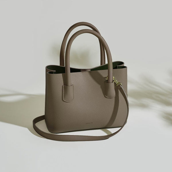 Angela Roi Cher Mini Vegan Leather Tote - Ash Brown