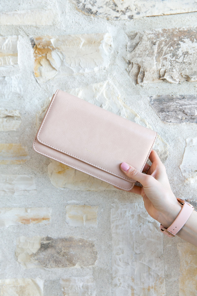 Patona Vegan Leather Clutch - Blush