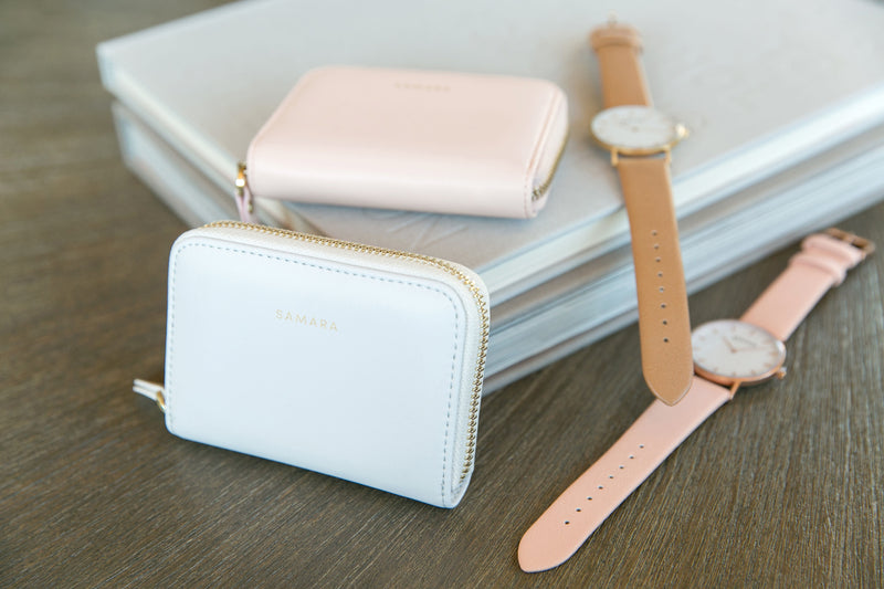 Lola Vegan Leather Wallet - Blush
