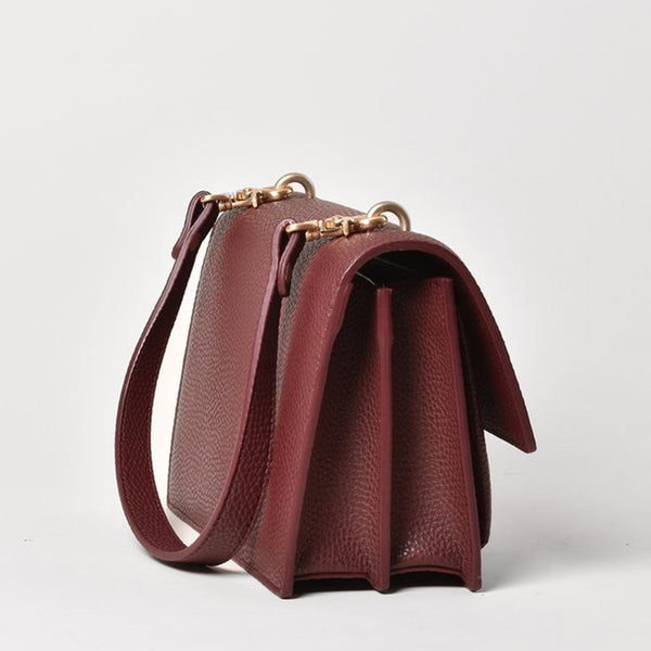 Angela Roi Eloise Vegan Leather Crossbody - Bordeaux
