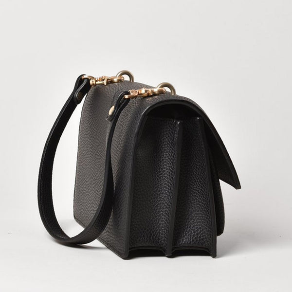Angela Roi Eloise Vegan Leather Crossbody - Black