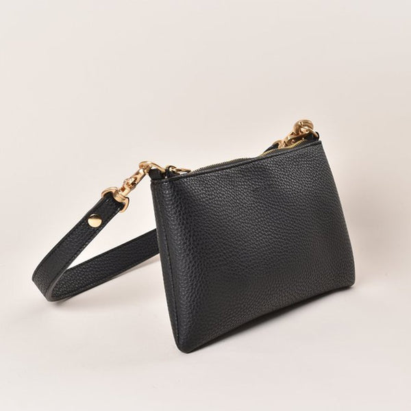 Angela Roi Zuri Vegan Leather Crossbody - Black