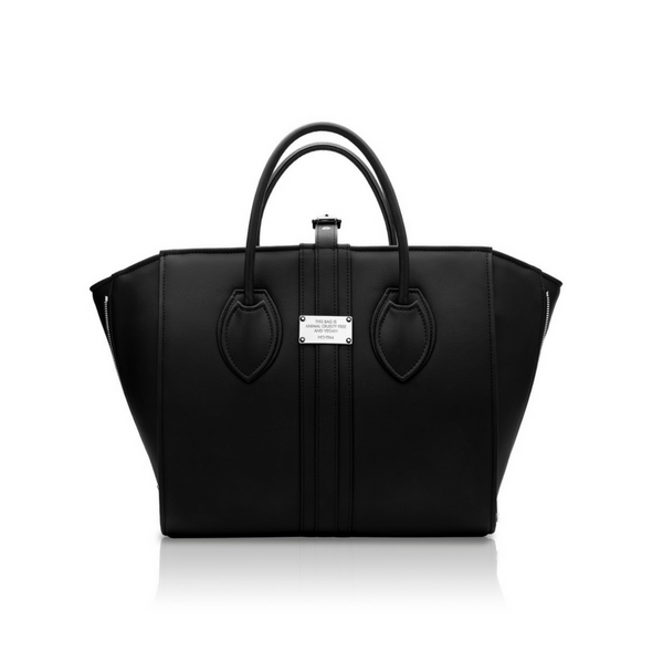 Alexandra K 1.5 Maxi Tote - Black (Vegan Leather)