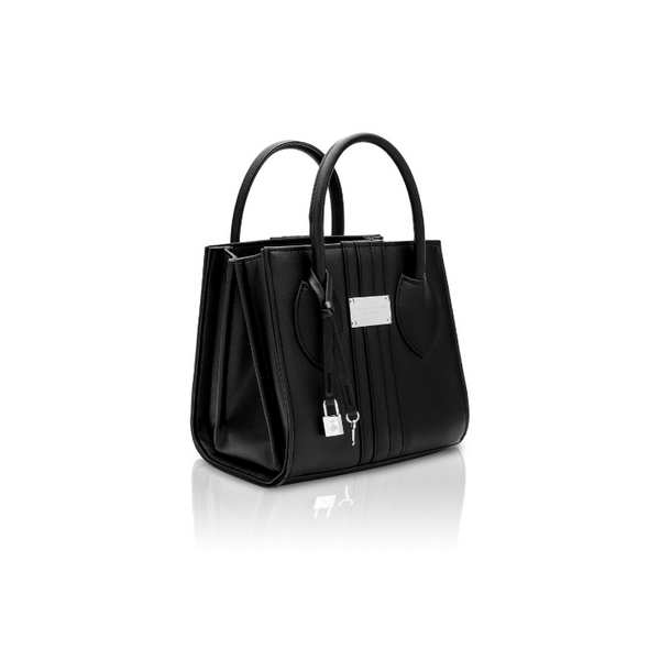 Alexandra K 1.6 Mini Tote - Black (Vegan Apple Leather)
