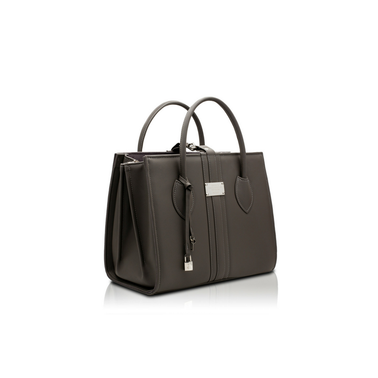 Alexandra K 1.6 Maxi Tote - Gray (Vegan Leather)
