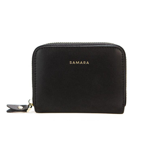 Samara Lola Vegan Leather Wallet - Black