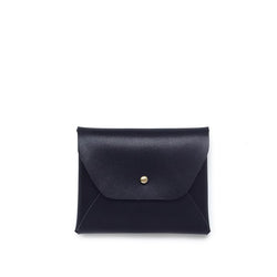 Samara Mini Vegan Leather Wallet - Black