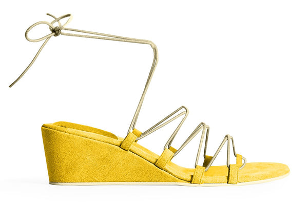 The Bungee Wedge Vegan Sandal - Yellow