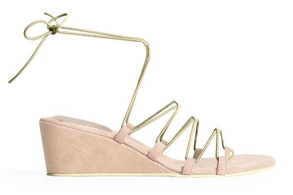 The Bungee Wedge Vegan Sandal - Beige