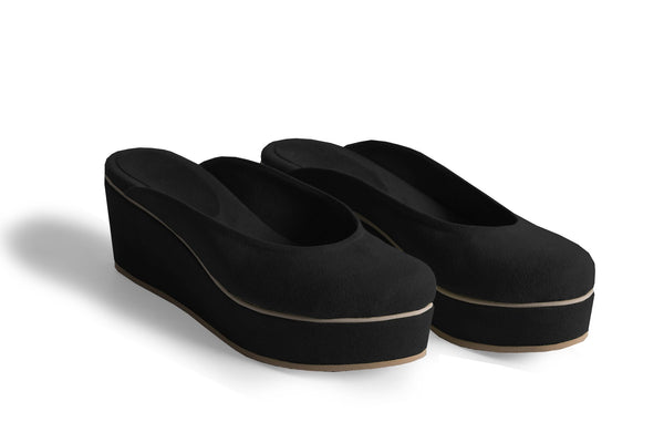 The Vegan Casa Wedge - Black