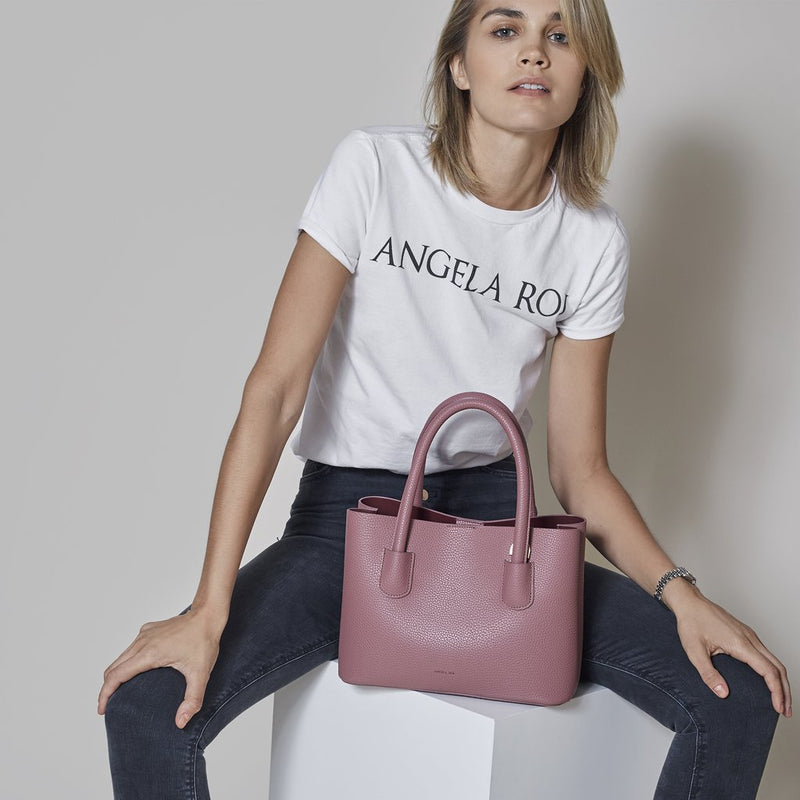 Angela Roi Cher Mini Vegan Leather Tote - Pink