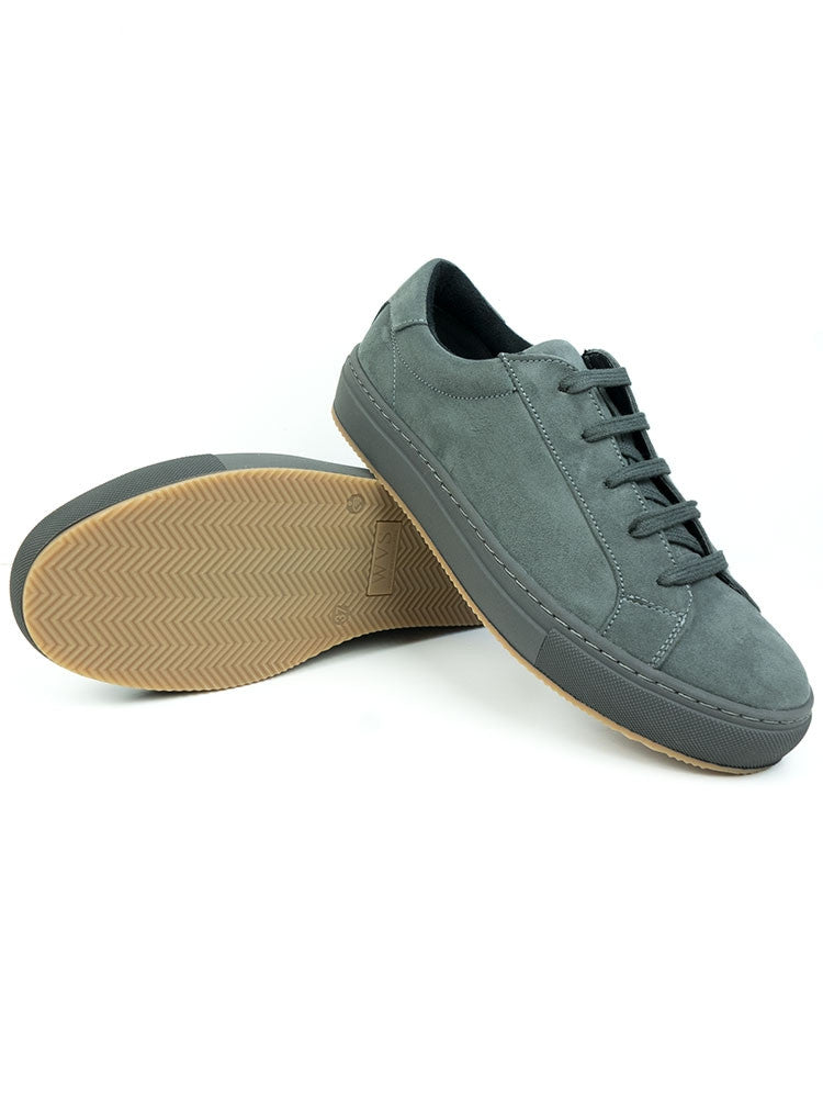 Vegan Suede Color Sneakers - Gray