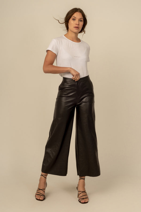 Nikole Vegan Leather Culottes