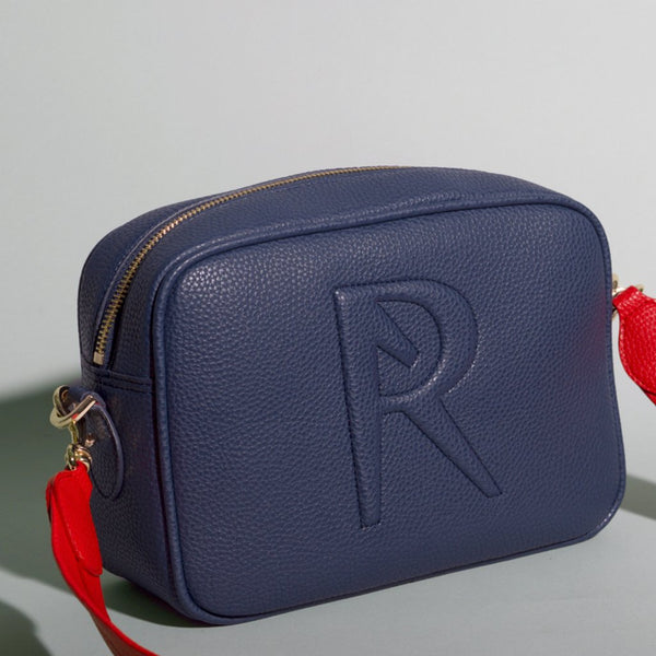 Angela Roi Grace Vegan Leather Crossbody - Navy and Red
