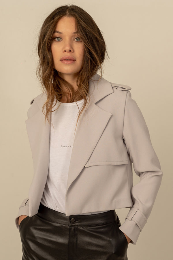 Magda Crop Vegan Trench