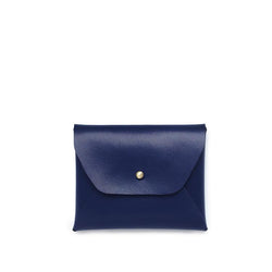 Samara Mini Vegan Leather Wallet - Navy