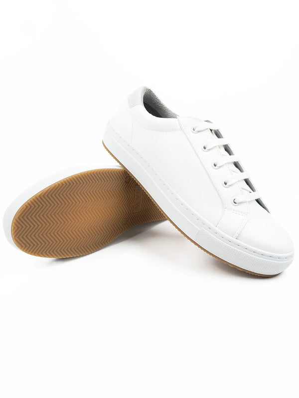 Vegan Leather New York Sneakers - White