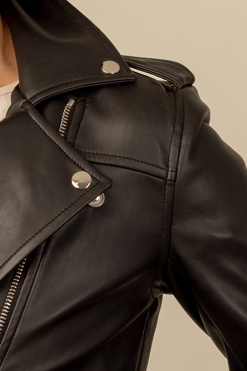 Paige Vegan Leather Biker
