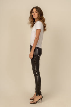 Zoe Vegan Leather Pants