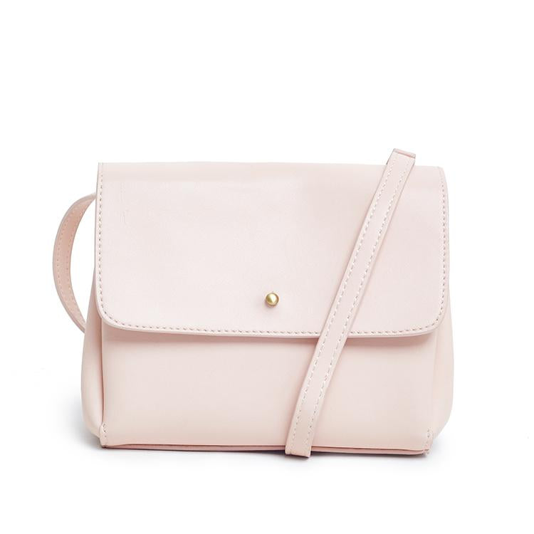 Samara Classic Vegan Leather Crossbody - Blush