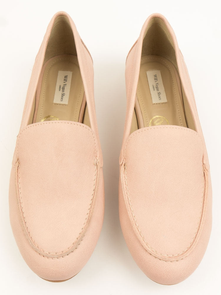Vegan Suede Loafers - Blush