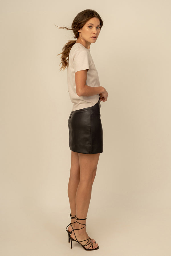 Becca Vegan Leather Skirt