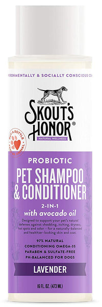 Skout's Honor Probiotic Shampoo & Conditioner Lavender 16 oz