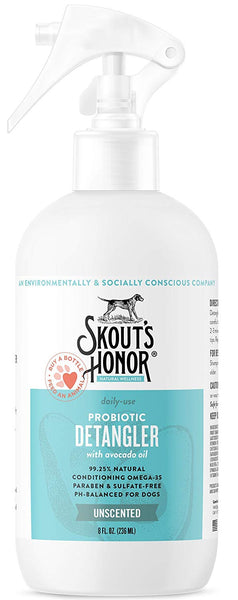 Skout's Honor Probiotic Detangler Conditioner Unscented 8 oz