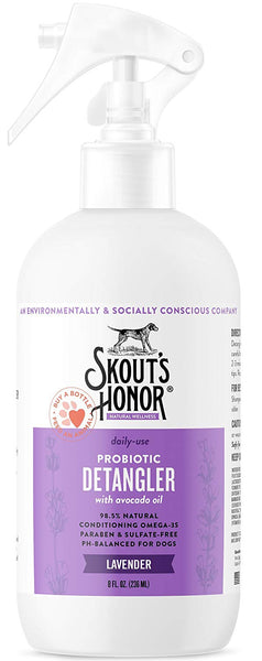 Skout's Honor Probiotic Daily-Use Detangler Lavender 8 oz
